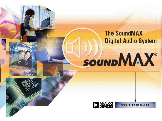 SoundMAX driver โปรแกรมไดร์เวอร์ SoundMAX