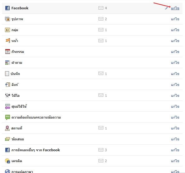 ตั้งค่า Facebook ไม่ให้ส่งเมล์หาเรา