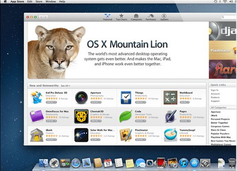 OS X Mountain Lion Upgrade