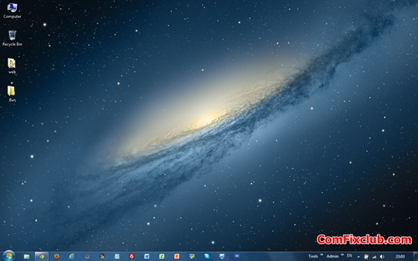 icon taskbar windows7