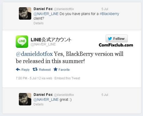 LINE สําหรับ Blackberry