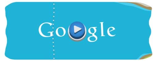 วิธีเล่นเกม London 2012 Slalom Canoe ใน Google
