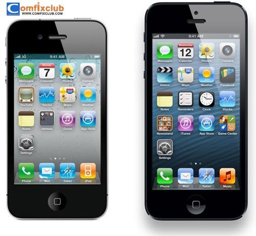 เปรียบเทียบ iphone 4s กับ iphone 5