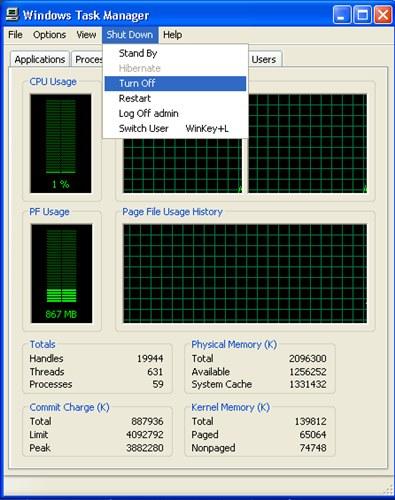 ปิดคอมพิวเตอร์ไม่ได้สั่ง Shutdown แล้วเครื่องไม่ยอมปิด Windows Xp