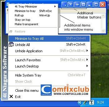 ซ่อนโปรแกรมบน Taskbar ง่ายๆ ด้วยโปรแกรม 4t Tray Minimizer Free