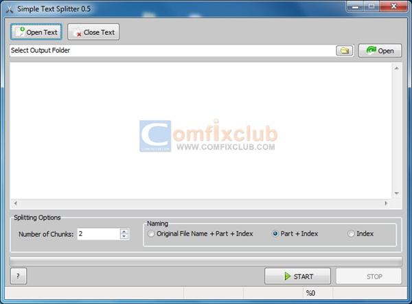 แบ่งไฟล์ Text ข้อความให้เป็นหลายๆไฟล์ด้วยโปรแกรม Simple Text Splitter