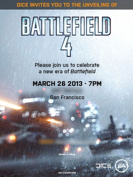 Battlefield 4 GDC 2013
