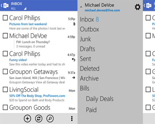 Outlook.com สำหรับ Android
