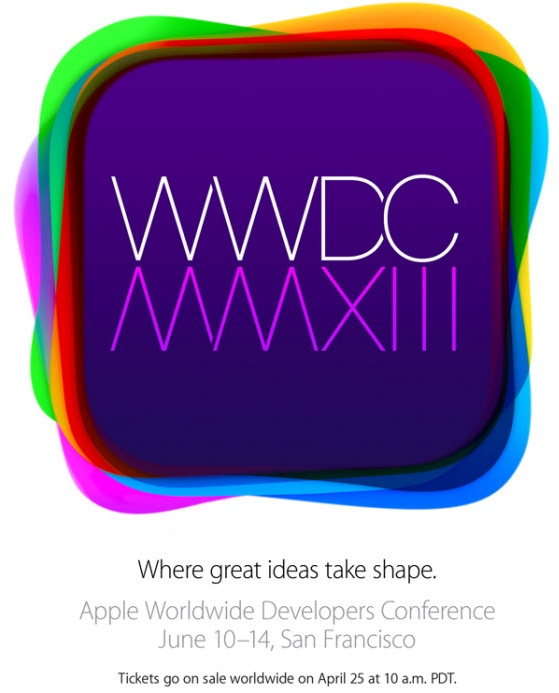 งาน WWDC 2013 วันที่ 10-14 มิถุนายน 2556