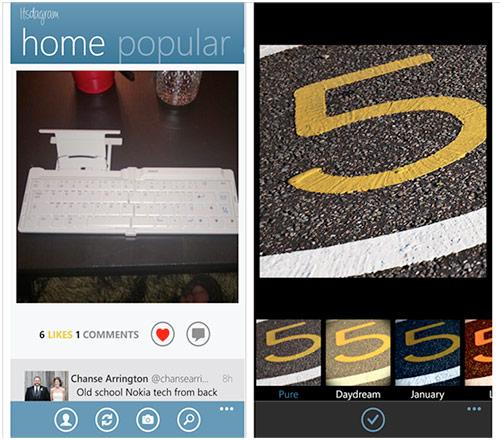 แอพ Itsdagram ใช้เล่น Instagram บน Windows Phone