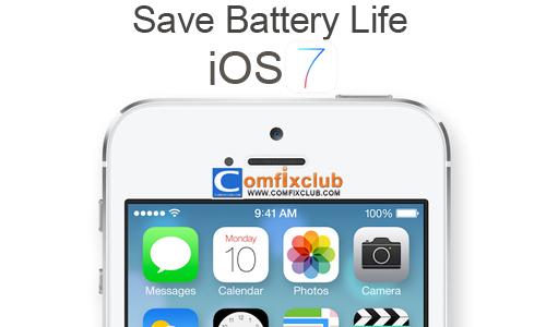 วิธีประหยัดแบต iOS 7