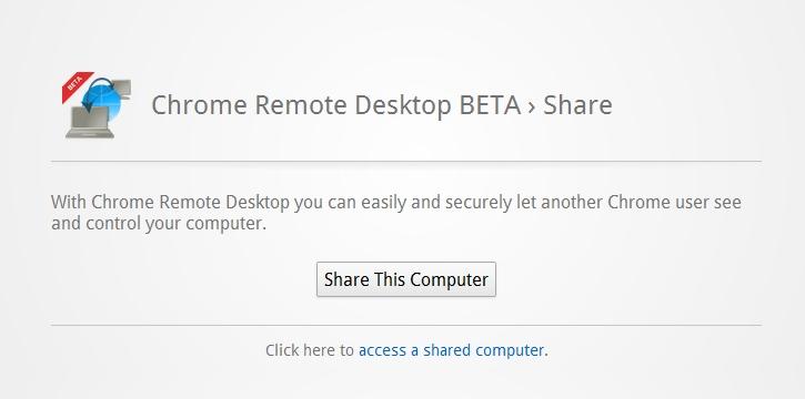 Remote Desktop Extension