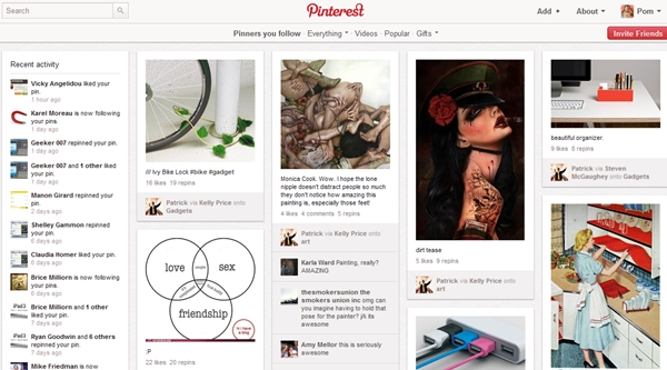 Pinterest New Social Network 2012