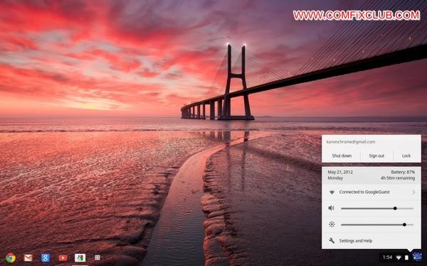 หน้าตาของ Chrome OS