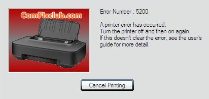 Canon IP2770 Error 5200