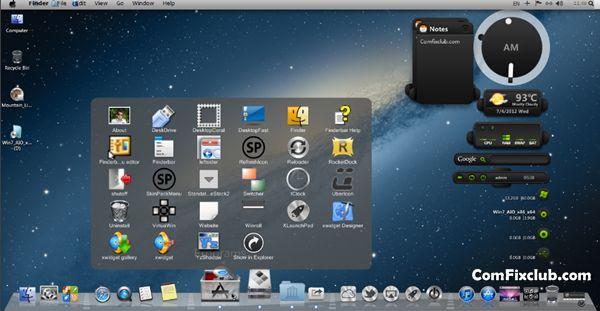 OS X Mountain Lion Theme for Windows 7