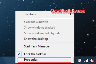 Taskbar Windows 7