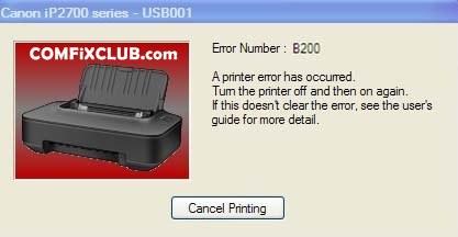 error b200 canon