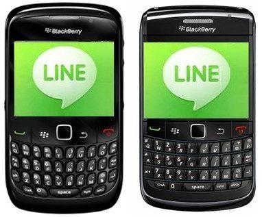 blackberry เล่น line