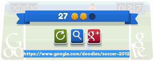 วิธีเล่นเกม London 2012 football บน Google