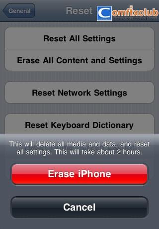 ลบข้อมูล iPhone ทั้งหมด