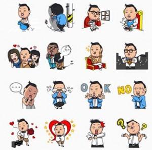 Gangnam Style LINE Sticker