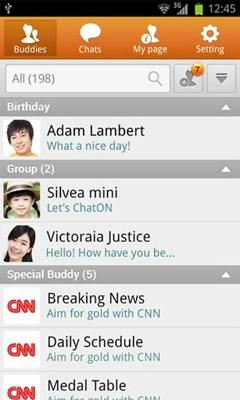 ChatON คือแอพฯแชท ดาวน์โหลด ChatON ฟรี Android, iPhone, Blackberry, Bada, Windows Phone