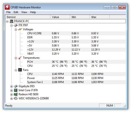 วิธีเช็คความร้อนโน๊ตบุ๊ค เช็คความร้อน Notebook ด้วย Hardware Monitor