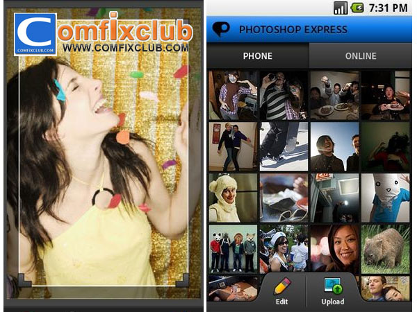 Photoshop บนมือถือ iPhone Android ด้วย Adobe Photoshop Express ดาวน์โหลดฟรีบน Play Store