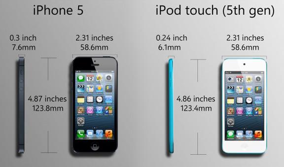 iPod touch 5 หรือ iPhone 5 เลือกอันไหนดี