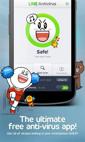 LINE Antivirus โปรแกรมป้องกันไวรัส android จาก Line NEVER
