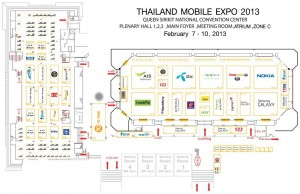 Thailand Mobile Expo 2013 Map