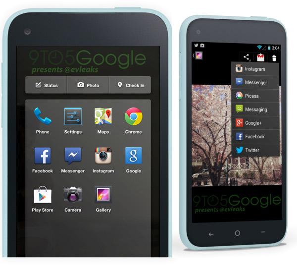 Facebook Phone HTC First ที่คาดว่าจะเปิดตัวในงาน Facebook for Android