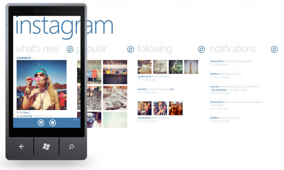 Instagram บน Windows Phone 8
