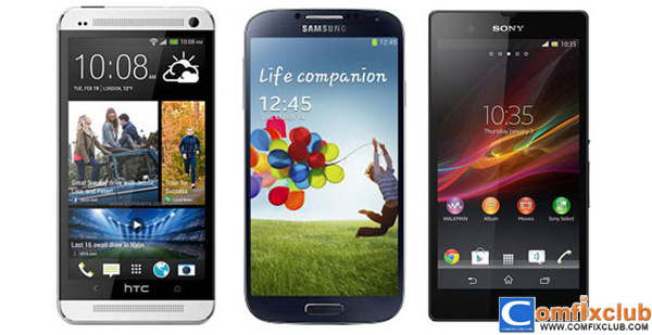compare-htc-one-samsung-galaxy-s4-sony-xperia-z