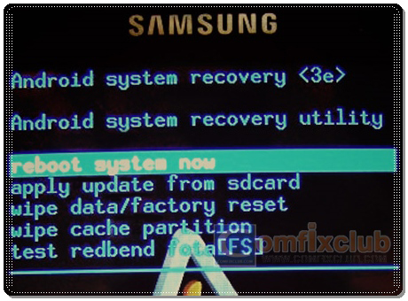 Recovery Mode ของ Samsung Galaxy Cooper