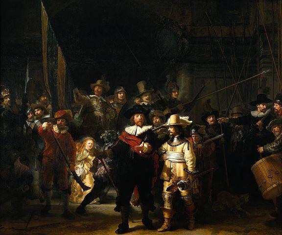 ภาพ สีน้ำมันบนผ้าใบ การเฝ้ายามกลางคืน หรือ กองทหารของฟรันส์ แบนนิง ค็อค พ.ศ. 2185