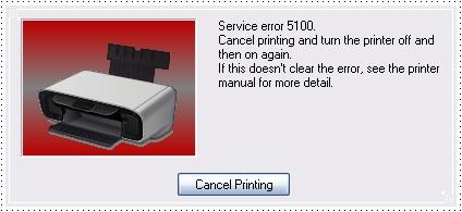 canon error 5100