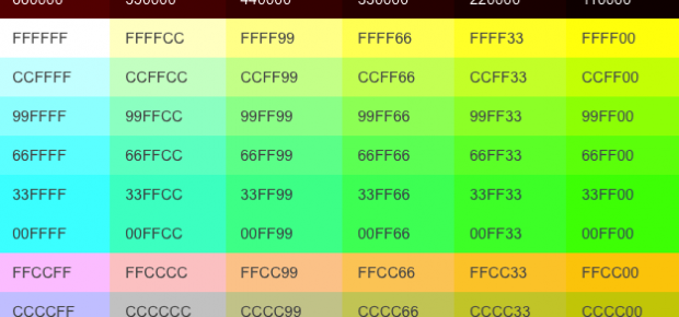 โค้ดสีตัวอักษร Html Color Code Rgb Com250